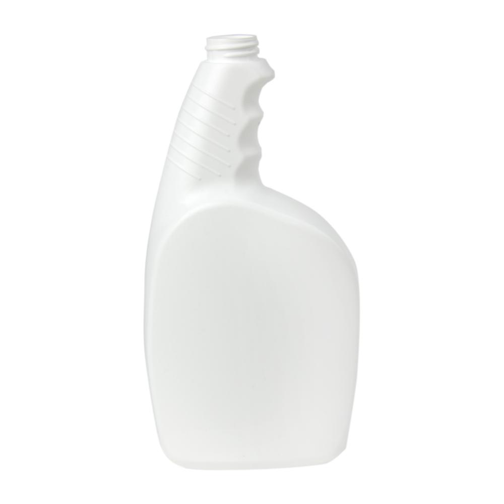 32 oz. White Pistol Grip HDPE Spray Bottle with 28/400 Neck (Sprayer or Cap Sold Separately)