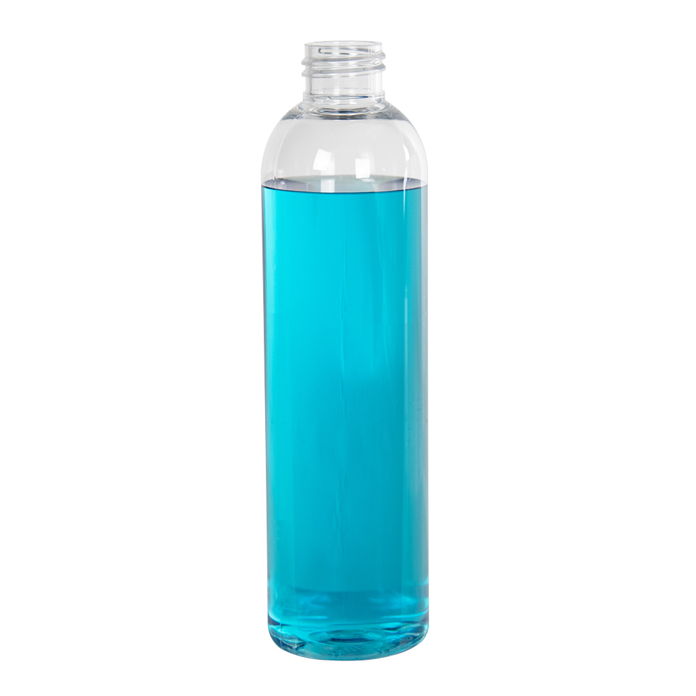 8 oz. Cosmo High Clarity PET Round Bottle with 24/410 Neck (Cap Sold Separately)