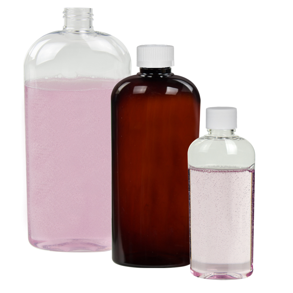 Vale & Cosmo High Clarity Oval Bottles