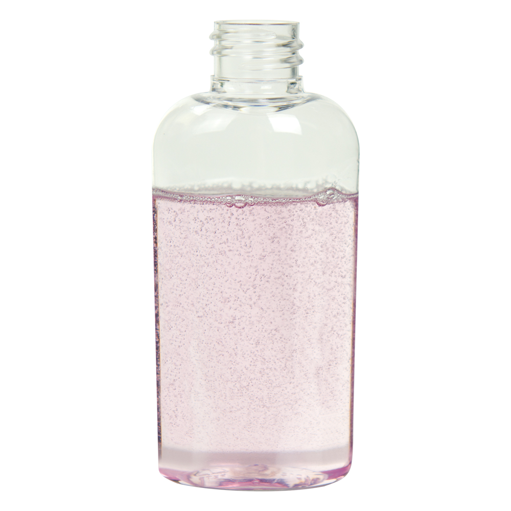 2 oz. Clear PET Cosmo High Clarity Oval Bottle with 20/410 Neck (Cap Sold Separately)