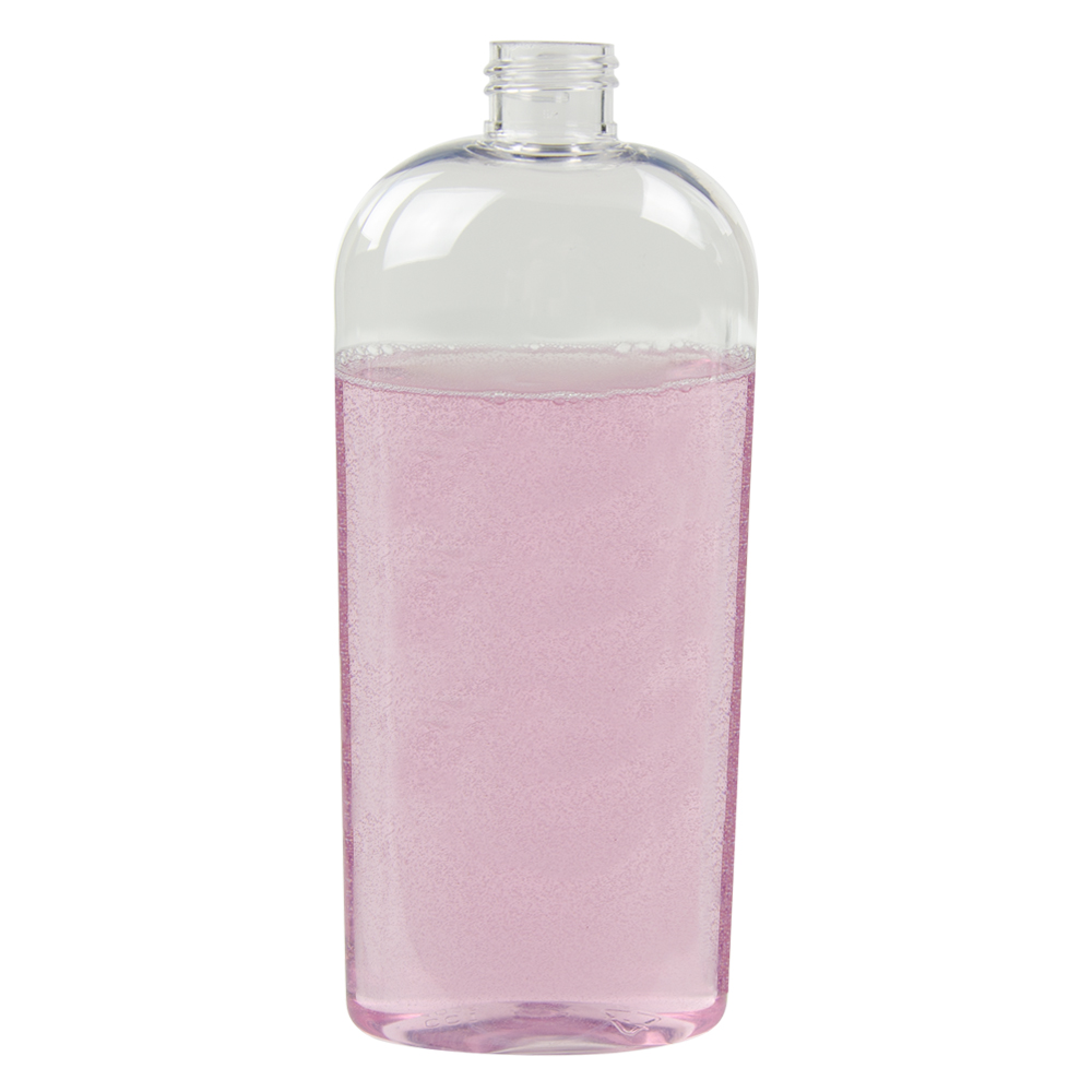 12 oz. Clear Cosmo High Clarity Oval Bottle with 24/410 Neck (Cap Sold Separately)