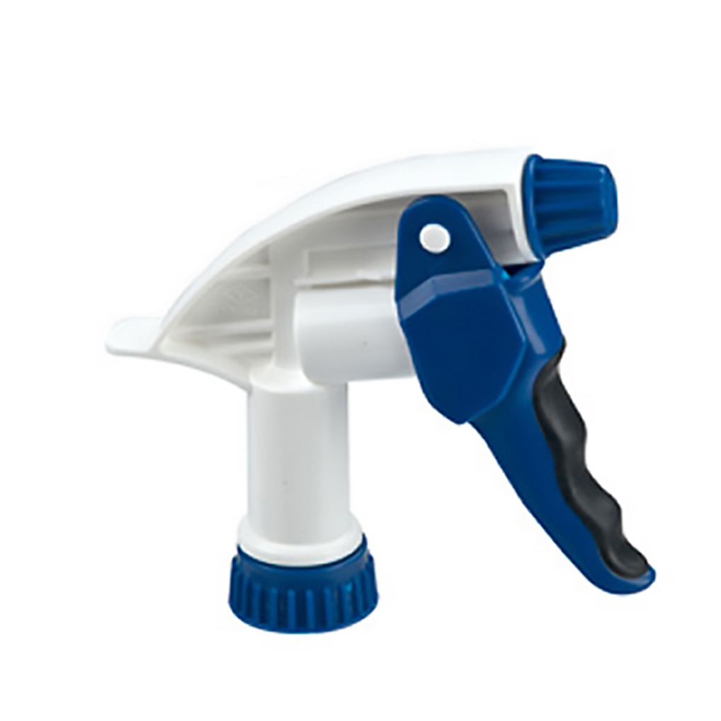 "28/400 Blue & White Big Blaster Cushion Grip Sprayer with 7-1/4"" Dip Tube"