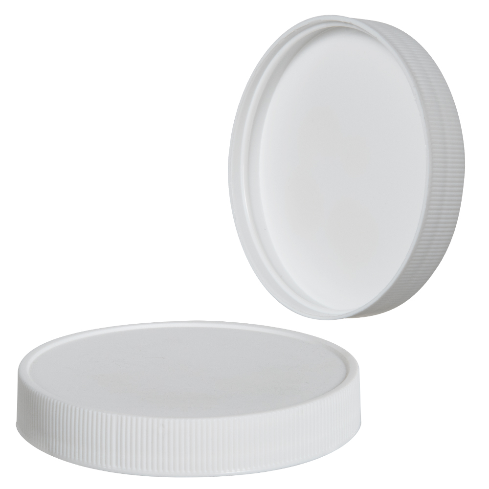 83/400 White Polypropylene Ribbed Cap with F217 Liner