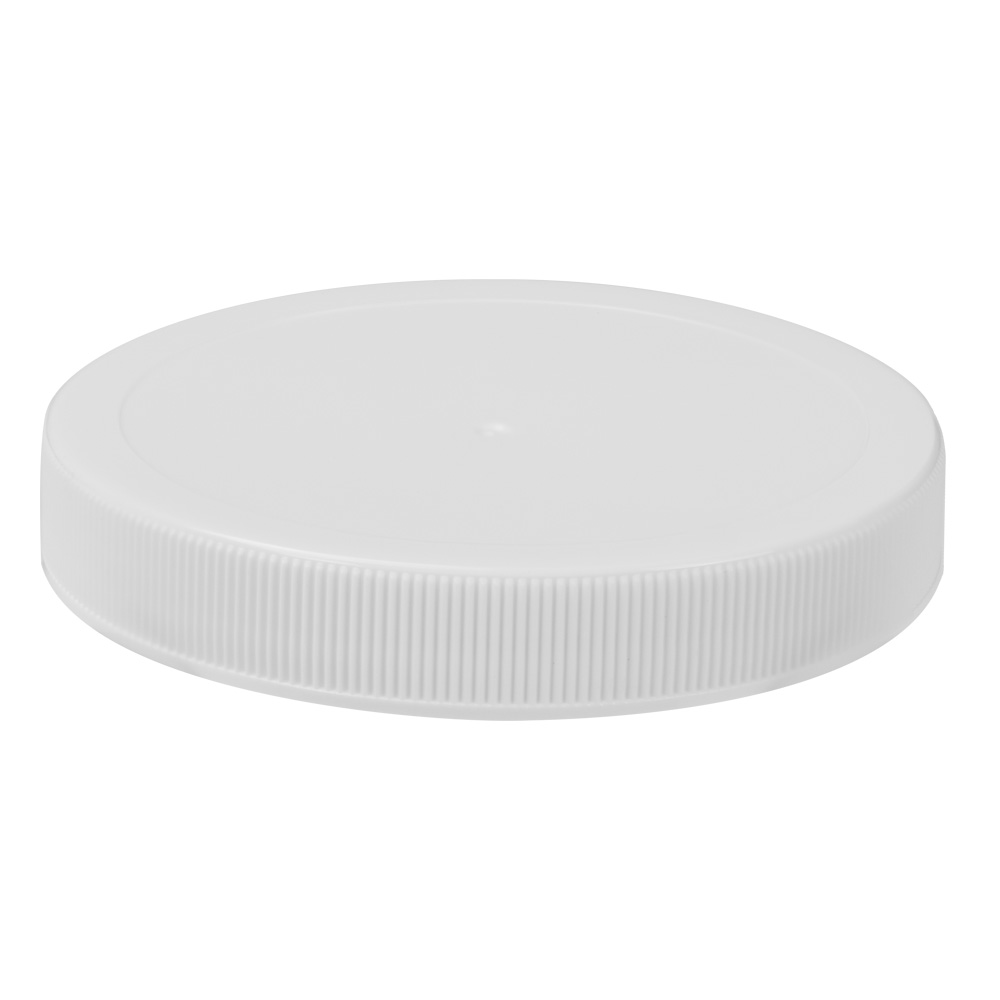 83/400 White Polypropylene Unlined Ribbed Cap