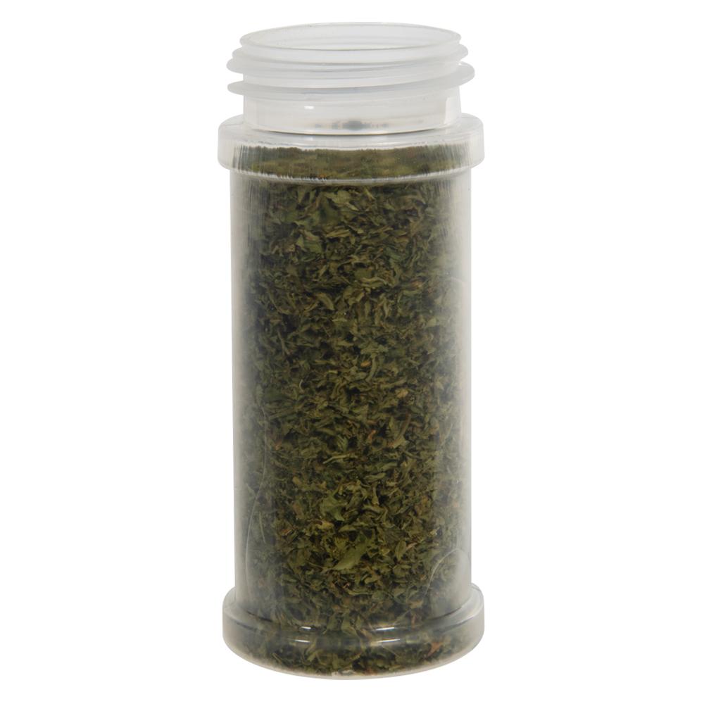 5.5 oz. Natural Polypropylene Round Spice Jar with 48/485 Neck (Cap Sold Separately)