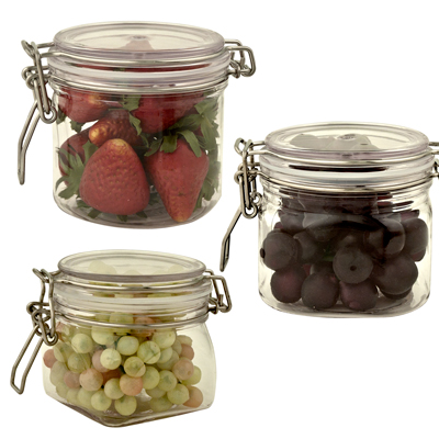 PET Wonder Jars with Bail Lids