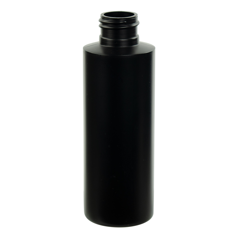 4 oz. Black HDPE Cylindrical Sample Bottle with 24/410 Neck (Cap Sold Separately)