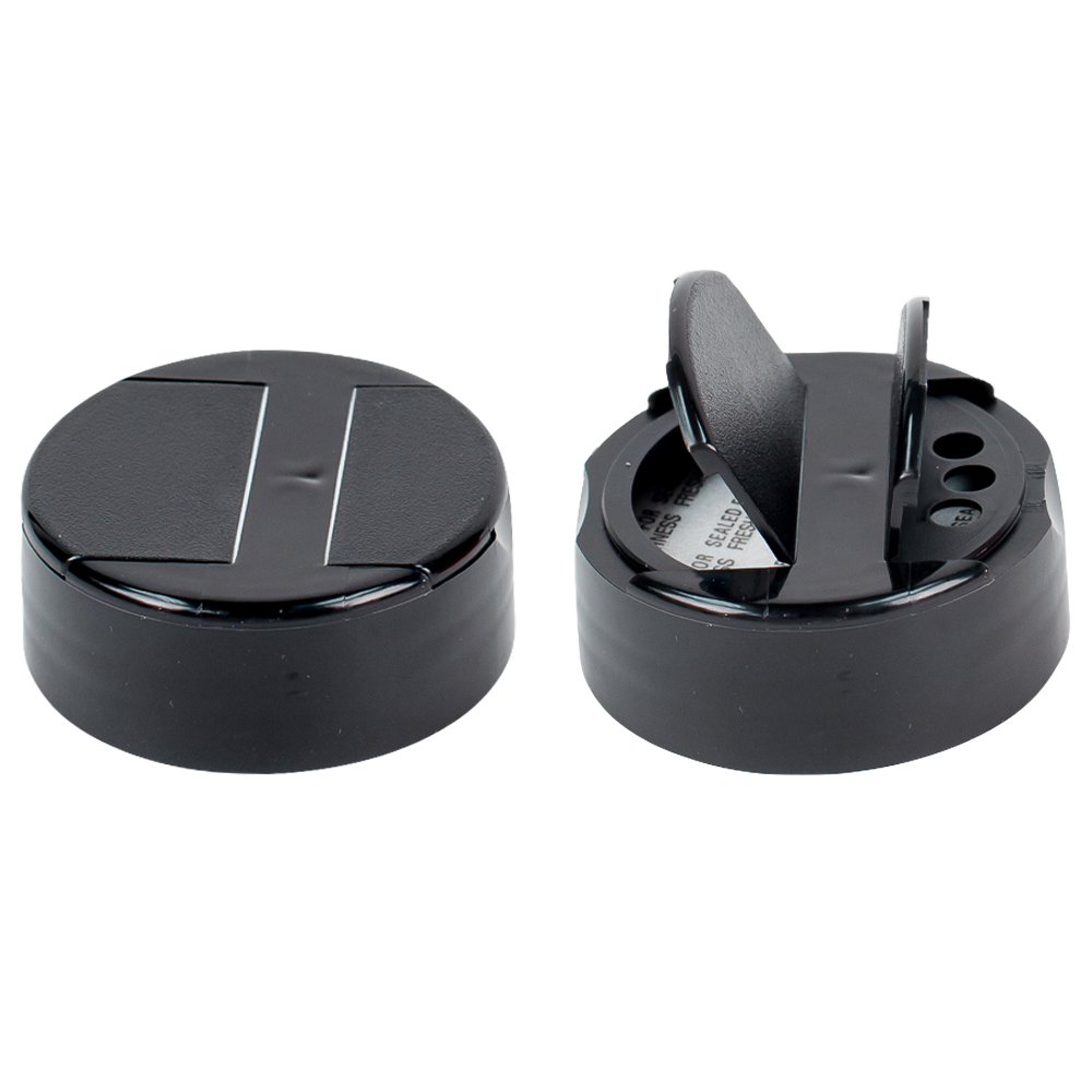 48/485 Black 3 Hole Flapper® Spice Cap with PS113 Liner