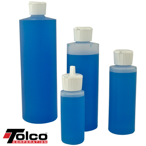 HDPE Cylinder Bottles with Flip-top Caps