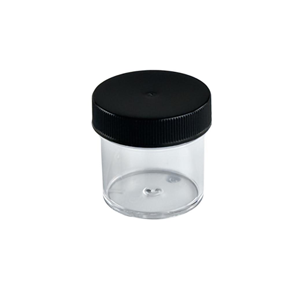 1 oz. Clear Jar with Black 43/400 Cap