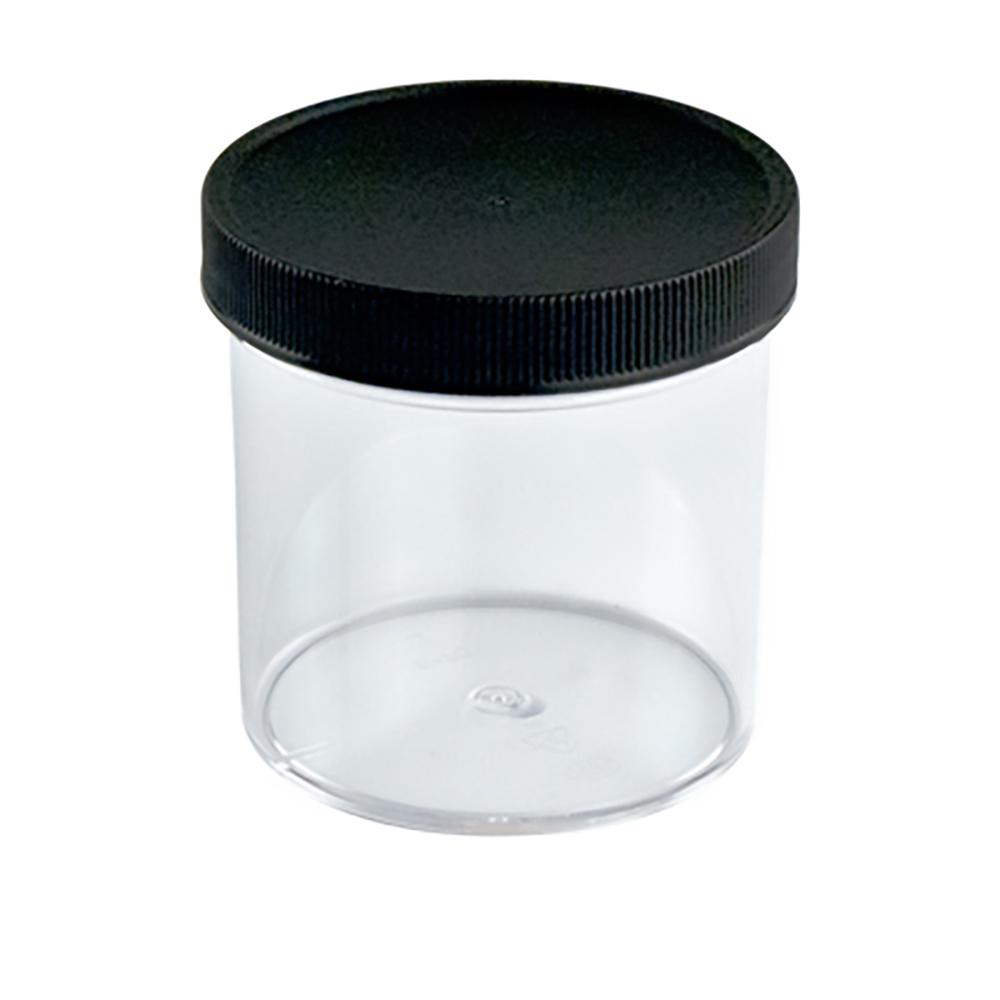 6 oz. Clear Jar with Black 70/400 Cap