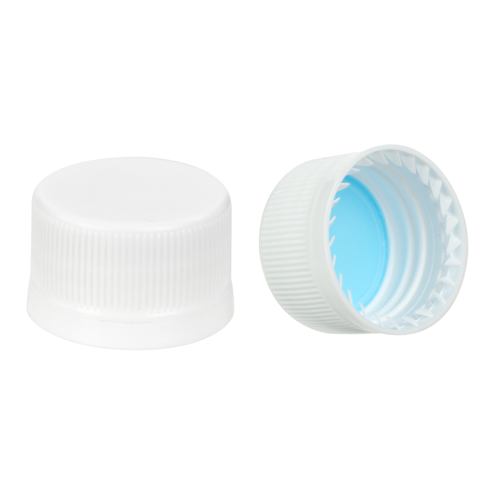 28mm White Tamper Evident Drop Loc Cap
