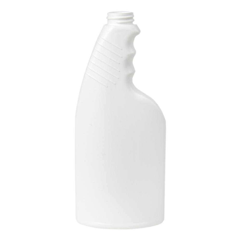 16 oz. White Pistol Grip HDPE Spray Bottle with 28/400 Neck (Sprayer or Cap Sold Separately)