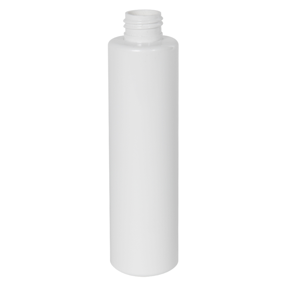 6 oz. White Slim PET Cylinder Bottle with 24/410 Neck (Cap Sold Separately)