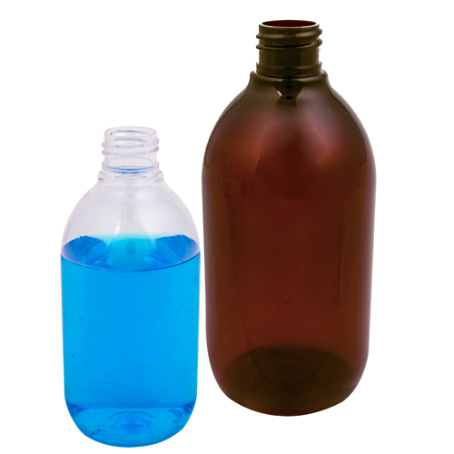 PET Apothecary Bottles & CRC Caps