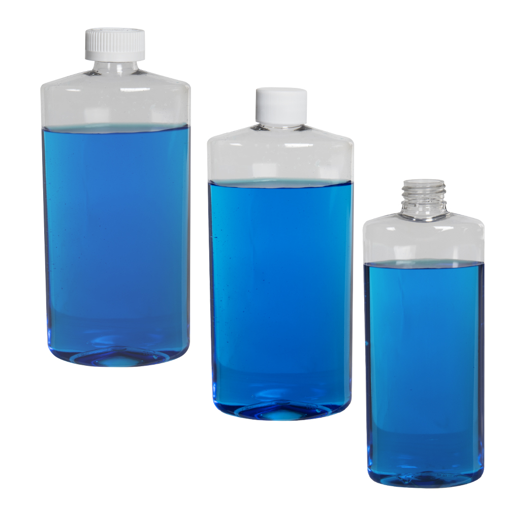 Clear PET Oval Bottles