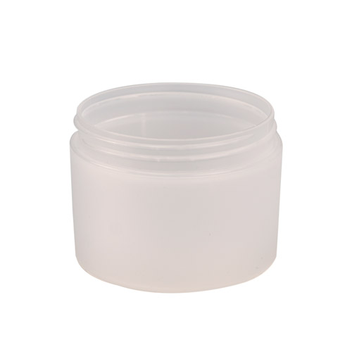 8 oz. Natural Frosted Double Wall Jar with 89mm Neck (Cap Sold Separately)