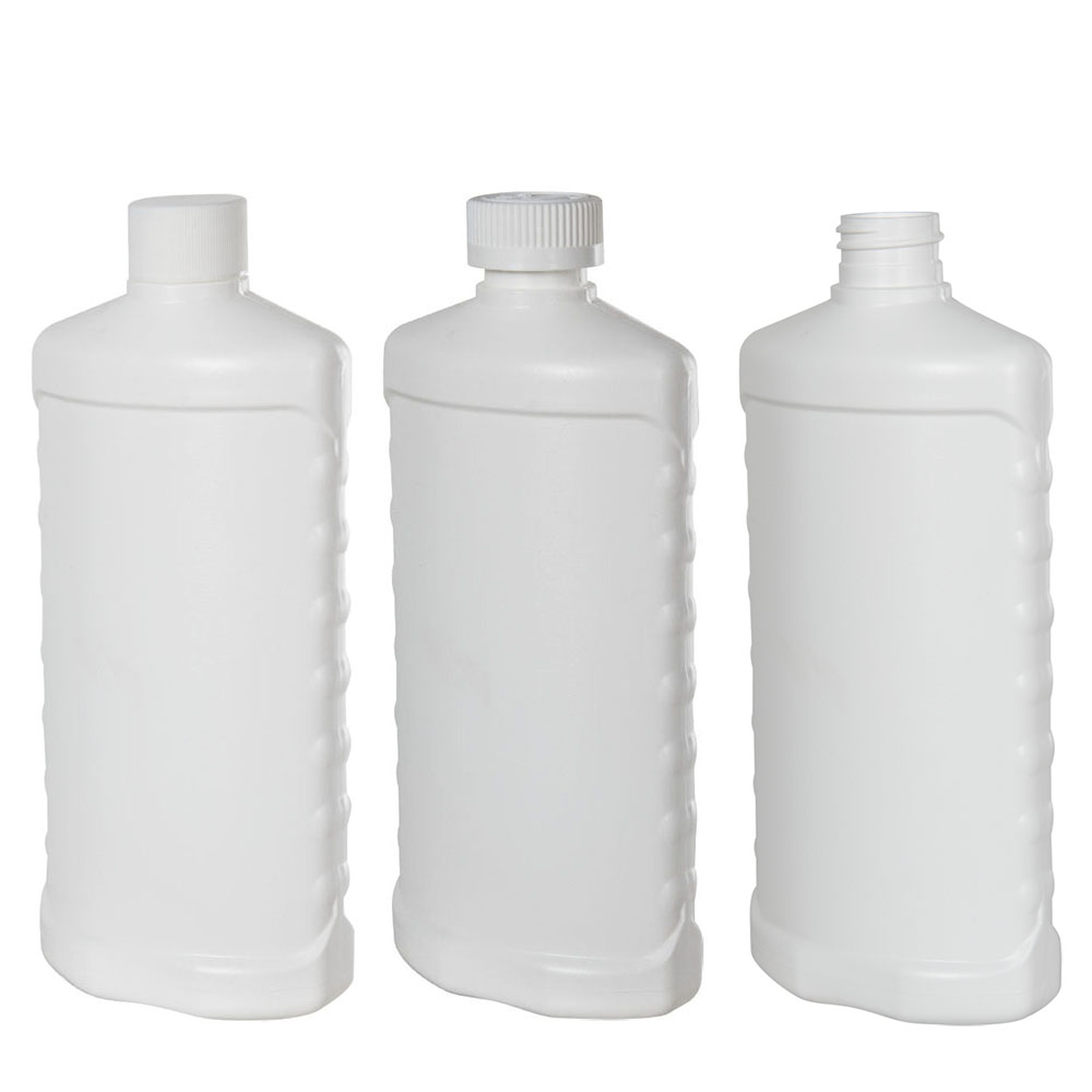 HDPE Oval Bottles with Side Grips