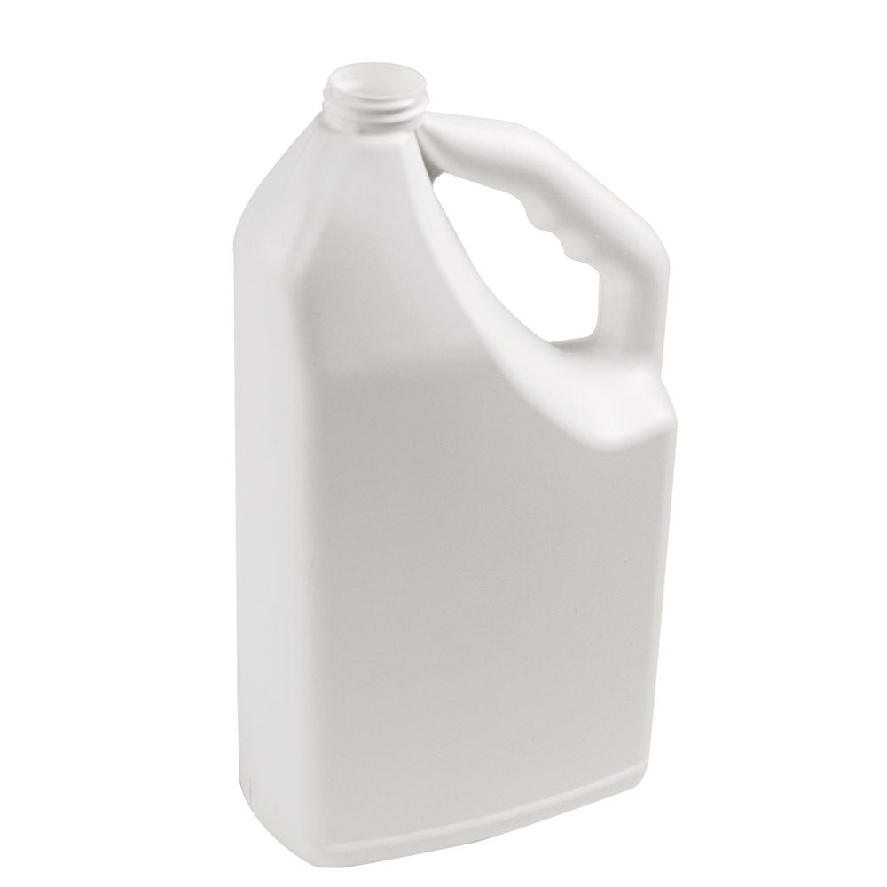 """64 oz. White HDPE """"No-Glug"""" Jug with 33/400 Neck (Cap Sold Separately)"""