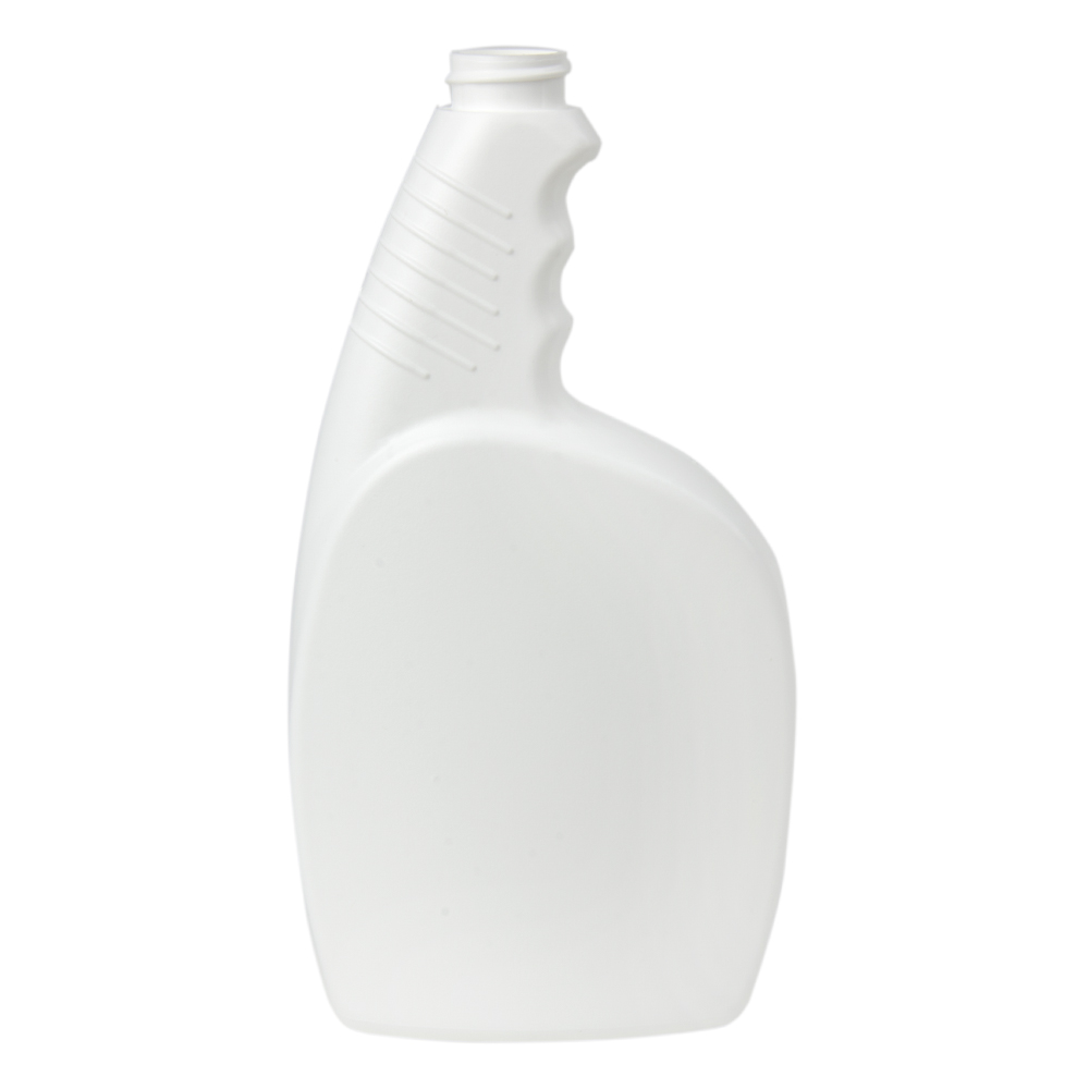 24 oz. White Pistol Grip HDPE Spray Bottle with 28/400 Neck (Sprayer or Cap Sold Separately)