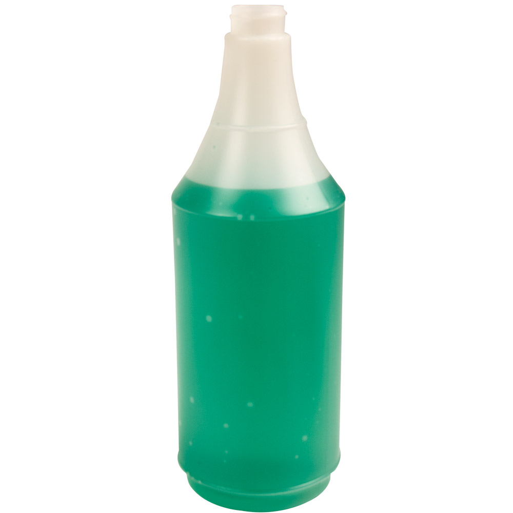 32 oz. HDPE Delta Round Spray Bottle with 28/400 Neck (Sprayer Sold Separately)