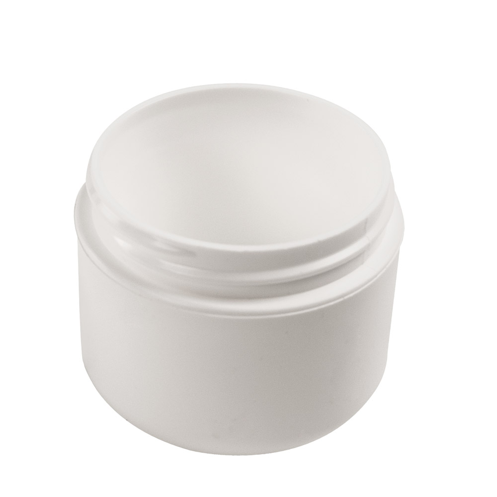2 oz. White Double Wall Dome Jar with 58/400 Neck (Cap Sold Separately)