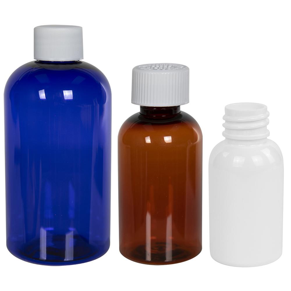 PET Squat Boston Round Bottles