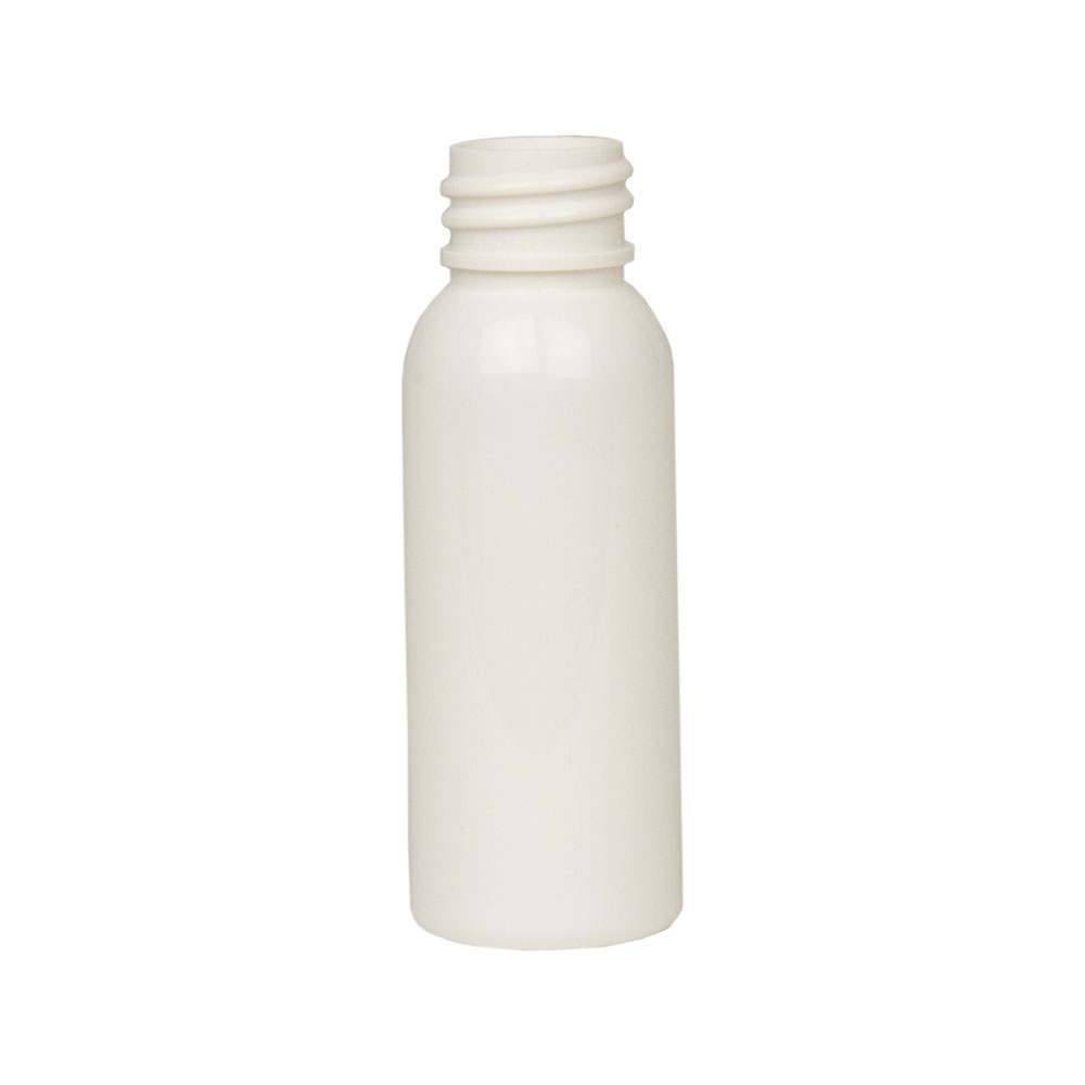 1 oz. White PET Cosmo Round Bottle with 20/410 Neck (Cap Sold Separately)