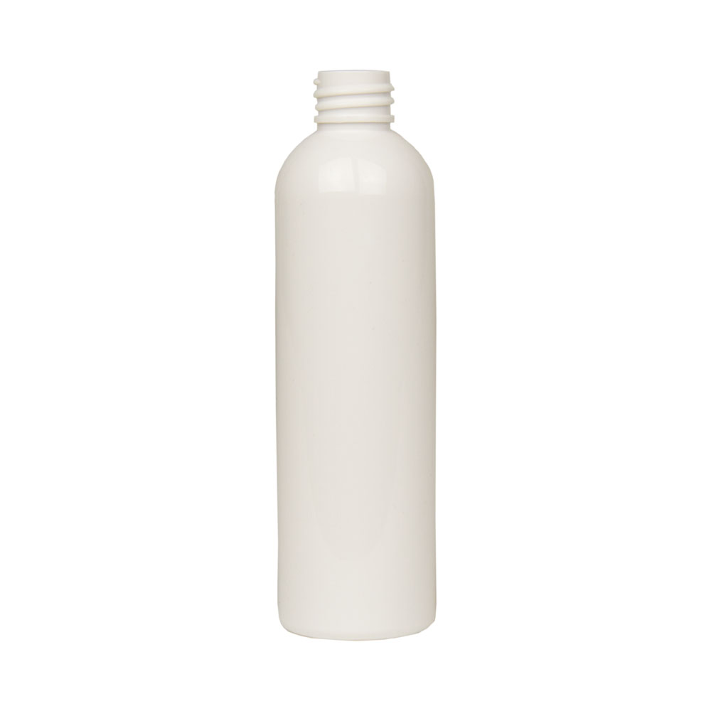 4 oz. White PET Cosmo Round Bottle with 20/410 Neck (Cap Sold Separately)