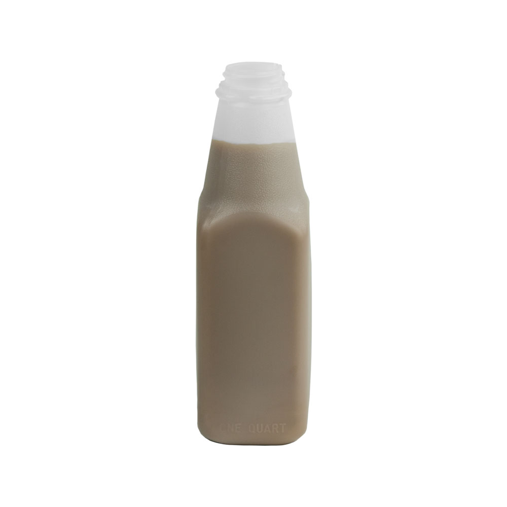 32 oz. Square HDPE Dairy Bottle with 38/400 Neck (Cap Sold Separately)
