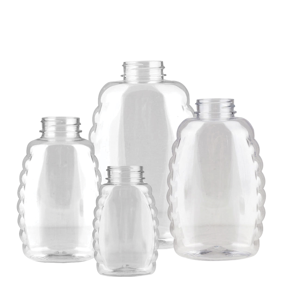 12 oz. (Honey Weight) Clear PET Inverted Queenline Bottle with 38/400 Neck (Cap Sold Separately)