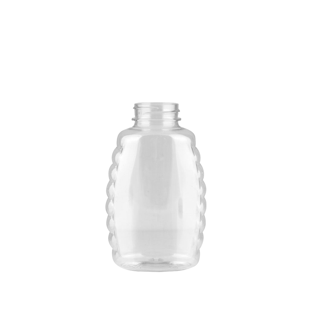 16 oz. (Honey Weight) Clear PET Queenline Bottle with 38/400 Neck  (Cap Sold Separately)