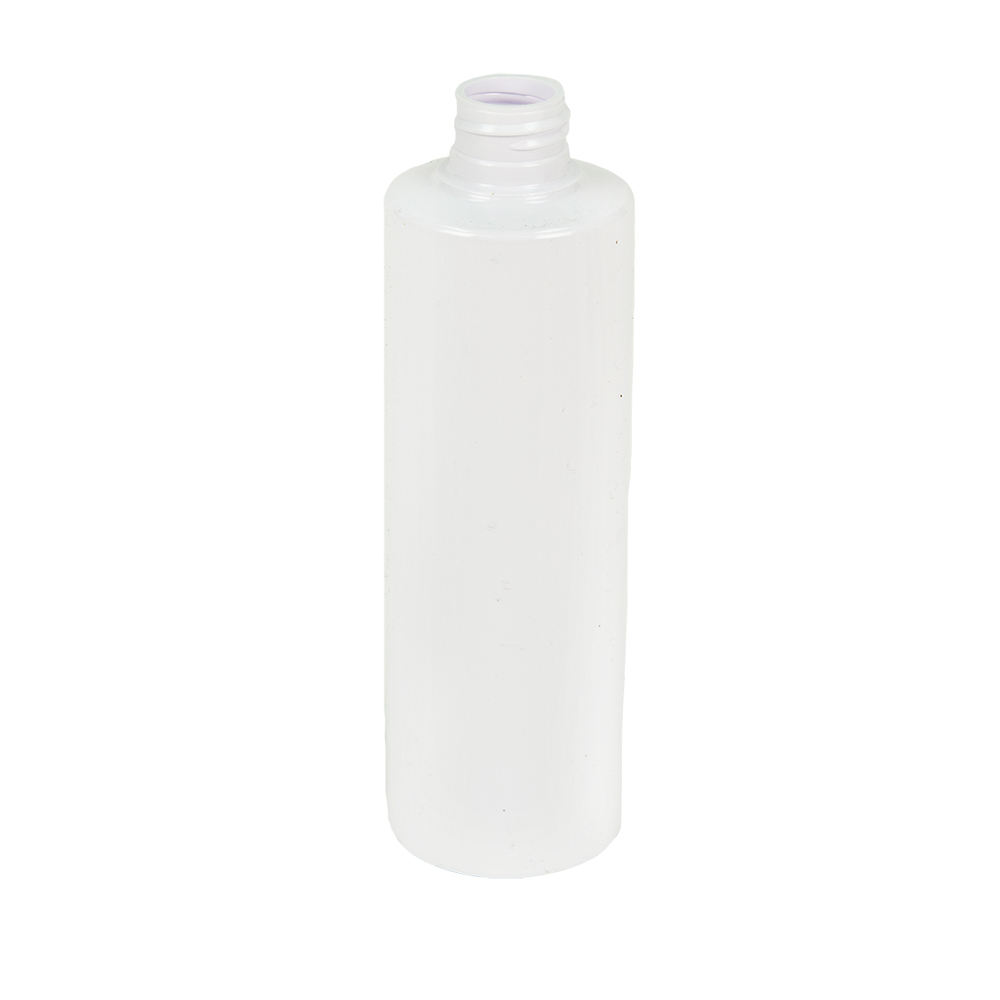 8 oz. White PVC Cylinder Bottle with  24/410 Neck (Caps sold separately)