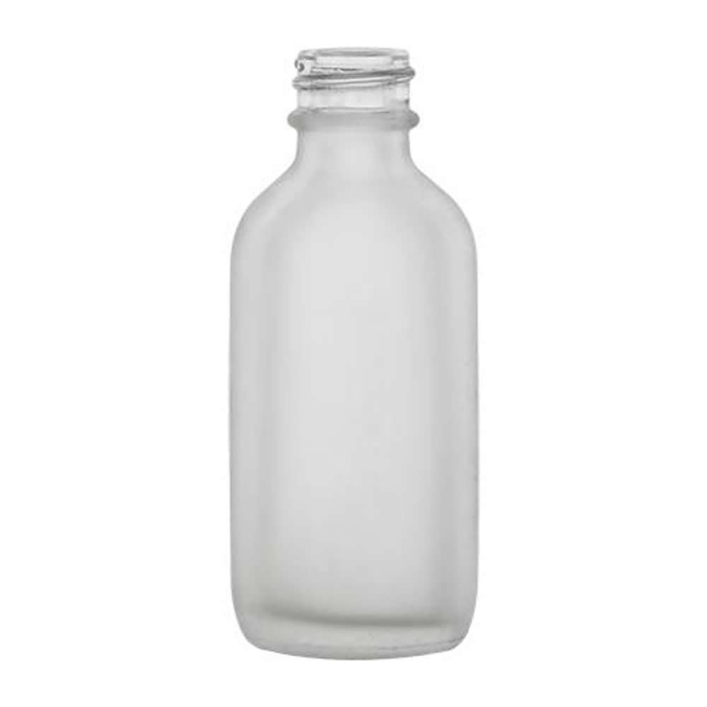 Oz clear frosted glass boston round bottle with