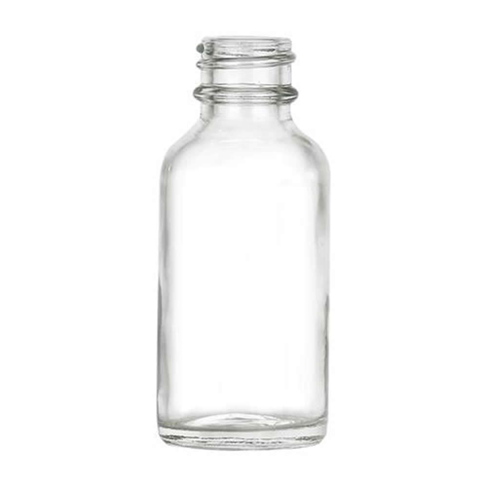 1 oz. Clear Glass Boston Round Bottle with 20/400 Neck (Cap Sold Separately)