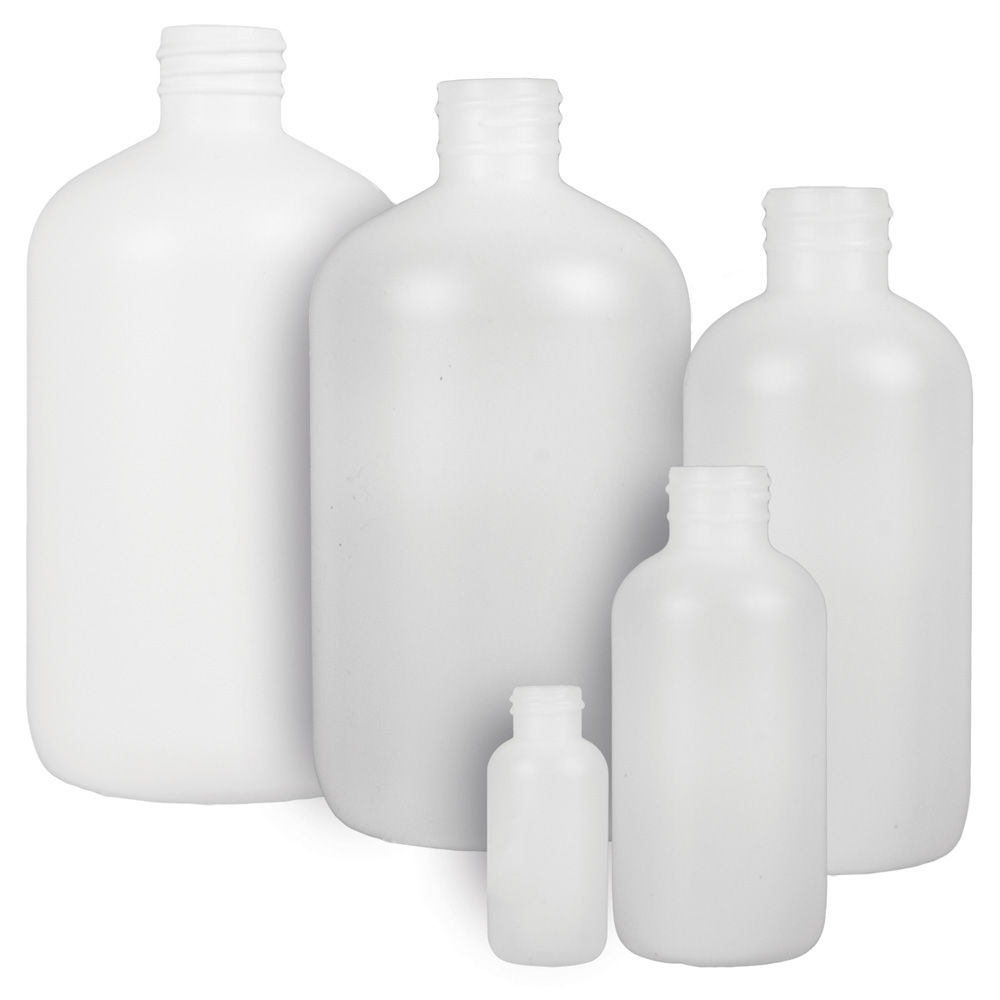 HDPE Boston Round Bottles