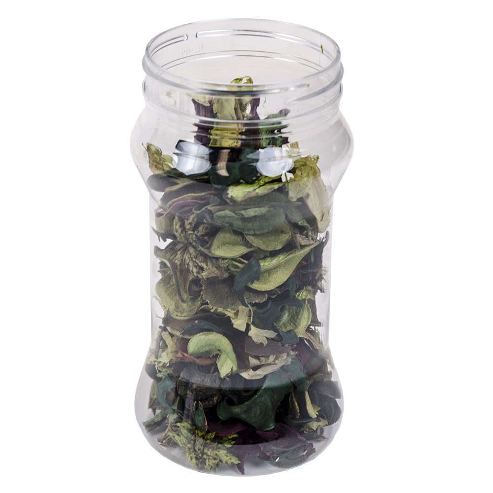 12 oz. Hourglass Clear PET Jar with 63/400 Neck  (Cap Sold Separately)