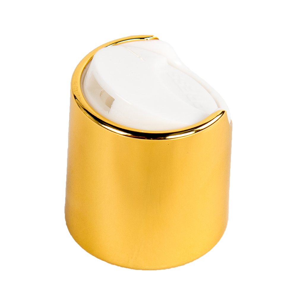 20/410 Gold & White Disc Dispensing Cap