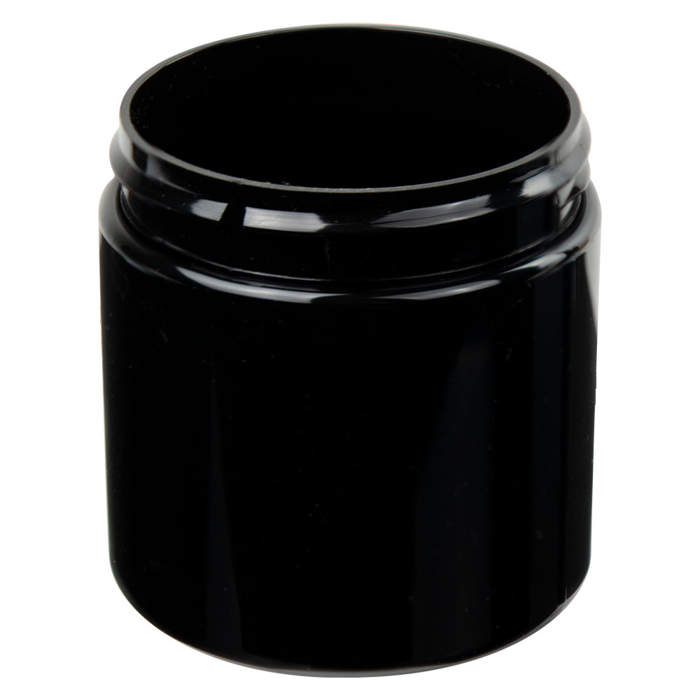 4 oz. Black PET Straight Sided Jar with 58/400 Neck (Cap Sold Separately)