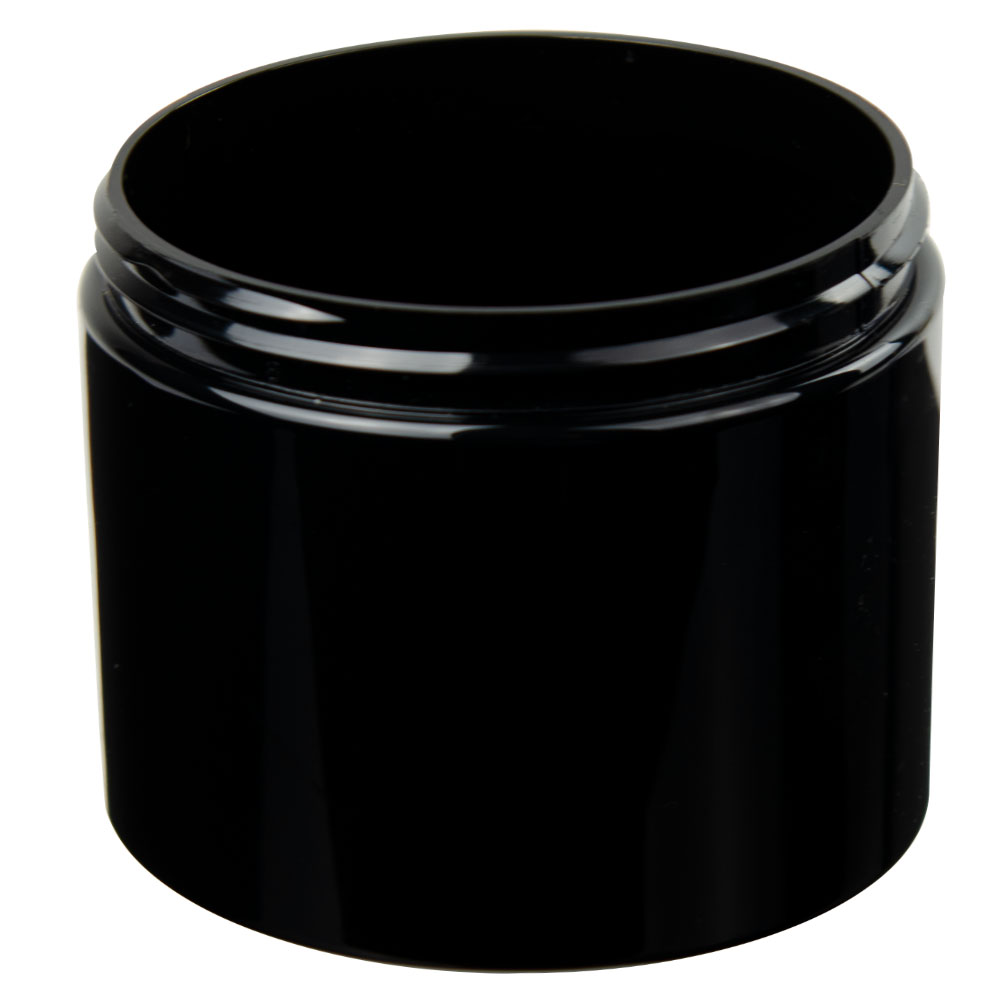 8 oz. Black PET Straight Sided Jar with 70/400 Neck (Cap Sold Separately)