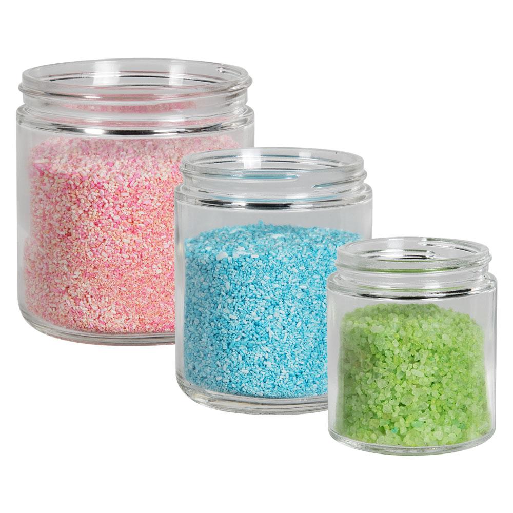 Glass Straight Sided Jars