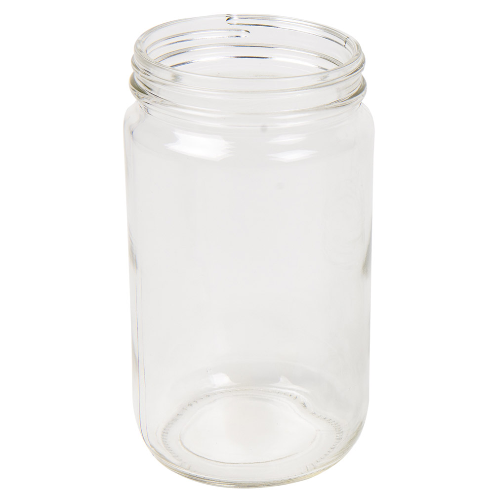 32 oz. Clear Glass Straight Sided Jar with 89/400 Neck  (Cap Sold Separately)