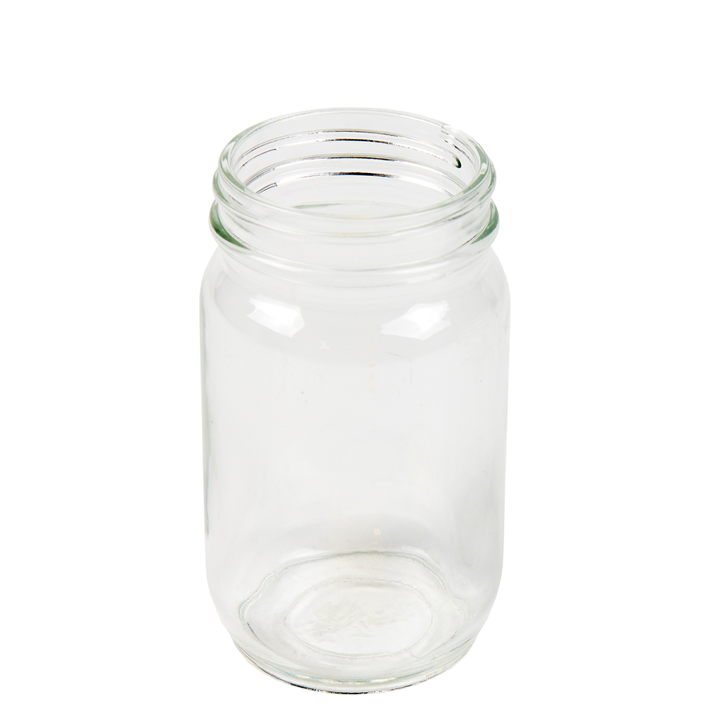 8 oz. Glass Mayo Round Jar with 58/400 Neck  (Cap Sold Separately)