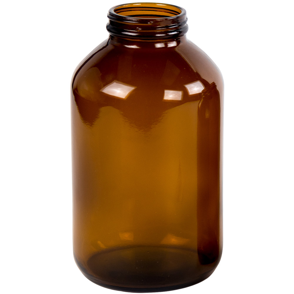 950mL Glass Wide Mouth Amber Packer with 53/400 Neck  (Cap Sold Separately)