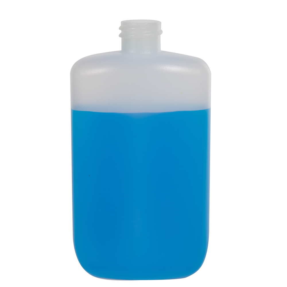 4 oz. Natural HDPE Oval Bottle with 20/410 Neck  (Cap Sold Separately)