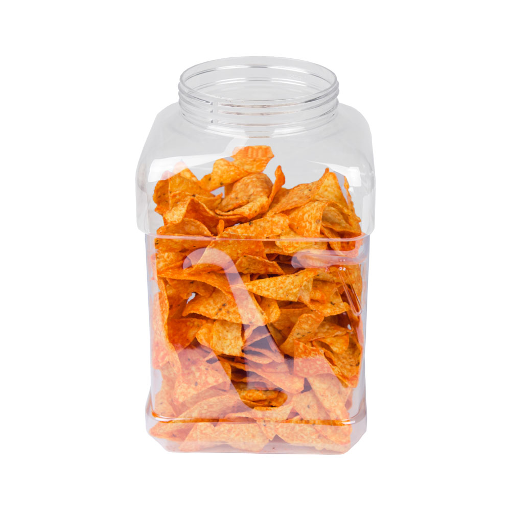 160 oz. Clear PET Pinch Grip Jar with 110mm Neck (Cap Sold Separately)