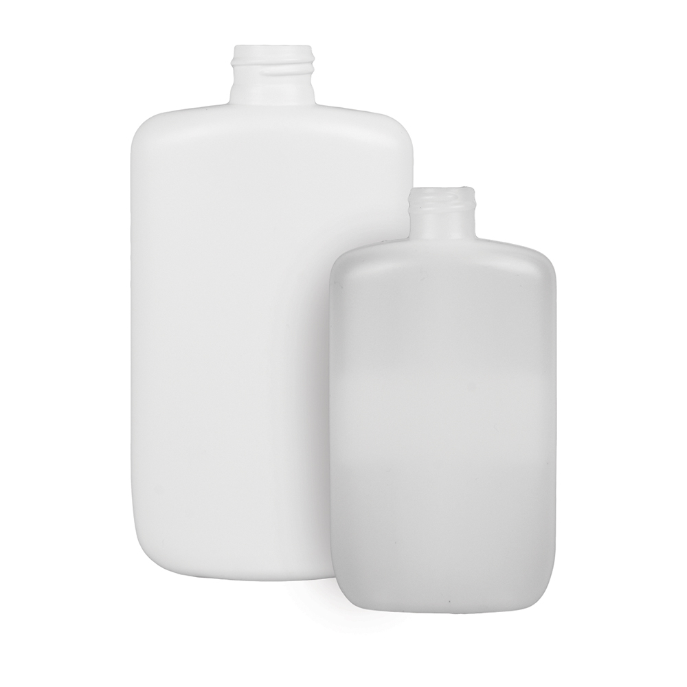 8 oz. Natural HDPE Oval Bottle with 20/410 Neck (Cap Sold Separately)