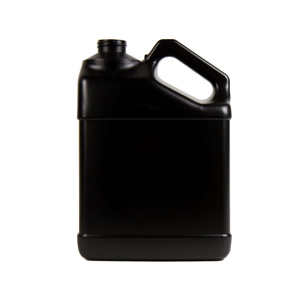 128 oz. Black F-Style Jug with 38/400 Neck  (Cap Sold Separately)