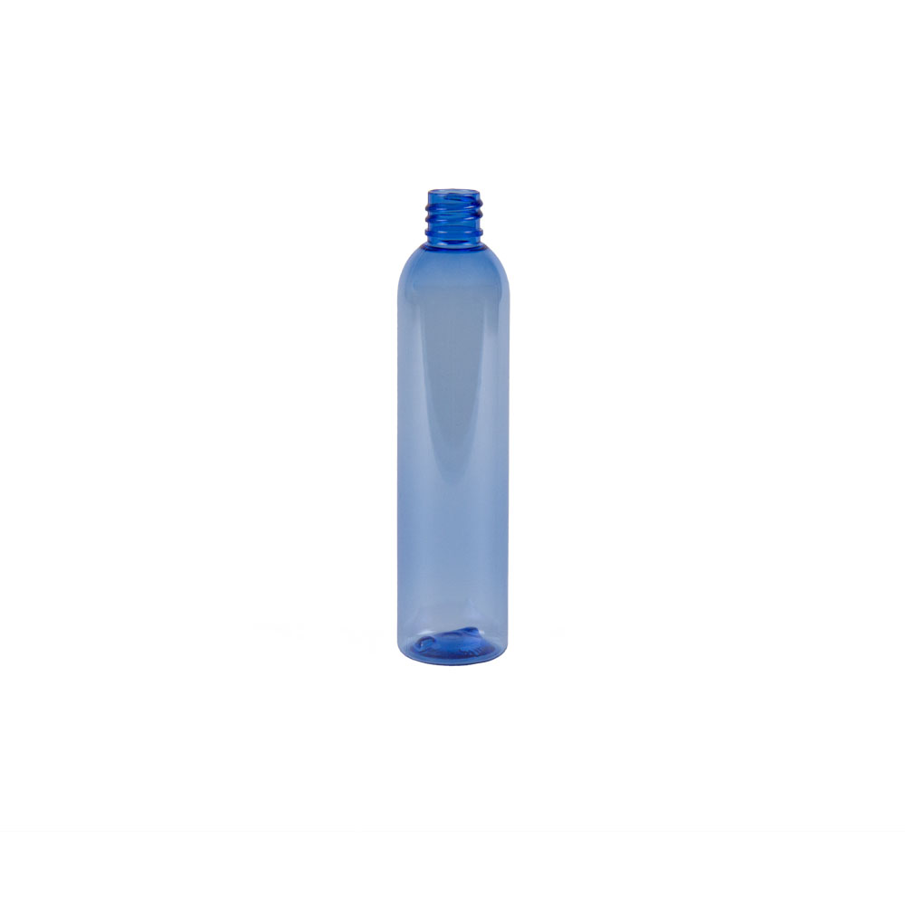 4 oz. Light Blue PET Cosmo Round Bottle with 20/410 Neck (Cap Sold Separately)