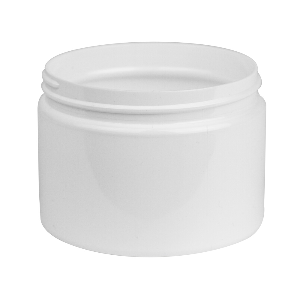 12 oz. White PET Straight Sided Jar with 89/400 Neck (Cap Sold Separately)